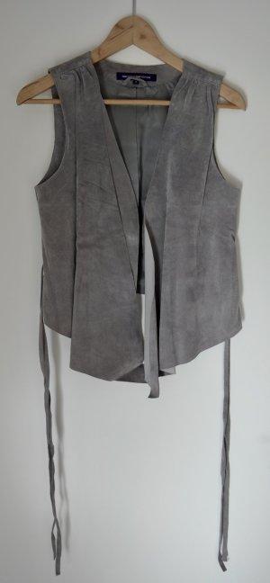 Hallhuber Leather Vest grey