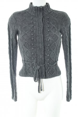 Hallhuber Coarse Knitted Jacket light grey cable stitch casual look