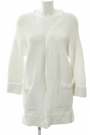 Hallhuber Coarse Knitted Jacket white-natural white weave pattern casual look