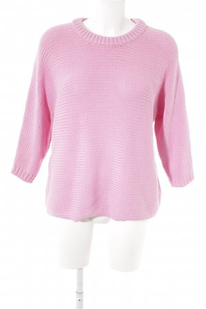 Hallhuber Coarse Knitted Sweater pink casual look