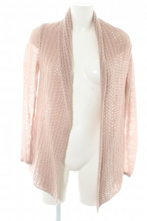 Hallhuber Cardigan all'uncinetto rosa antico stile casual