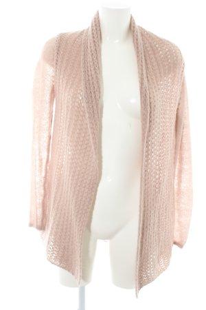 Hallhuber Crochet Cardigan dusky pink casual look