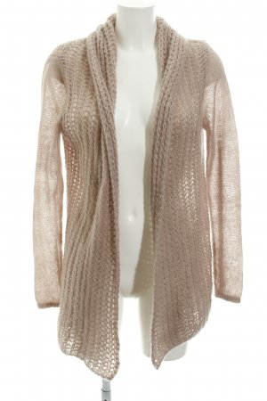 Hallhuber Cardigan all'uncinetto malva stile casual