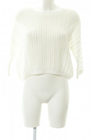 Hallhuber Pullover all'uncinetto bianco sporco stile casual