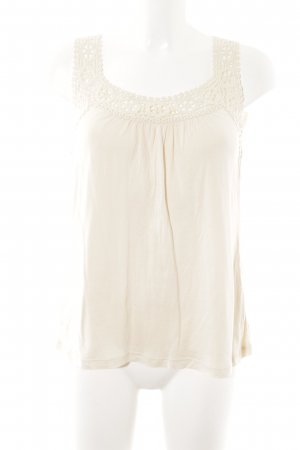 Hallhuber Crochet Top cream simple style