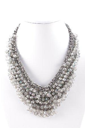 Hallhuber Halskette anthrazit-silberfarben Elegant