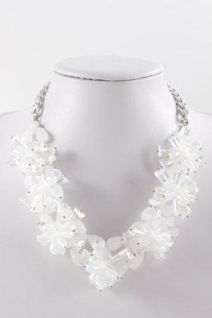 Hallhuber Halskette silberfarben-wollweiß Elegant