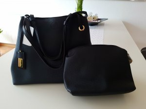 Hallhuber Handbag black-gold-colored