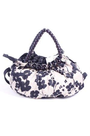 Hallhuber Handtasche beige-schwarz Blumenmuster Casual-Look