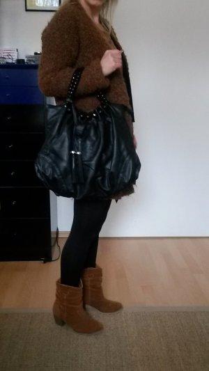 HALLHUBER Handtasche mit Glitzerperlen Henkel