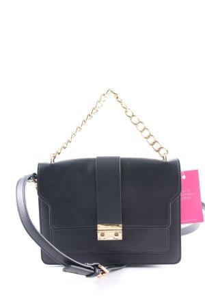 Hallhuber Handtasche schwarz-goldfarben Casual-Look