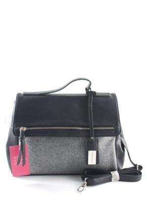 Hallhuber Borsetta nero-grigio chiaro stile casual