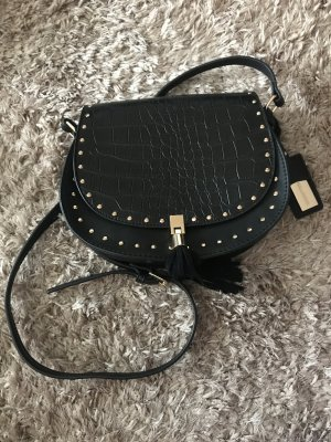 Hallhuber Handtasche schwarz mit Gold