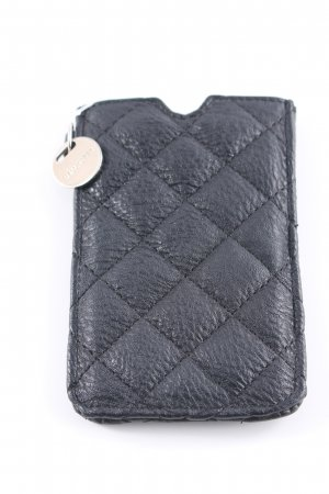 Hallhuber Mobile Phone Case black quilting pattern casual look