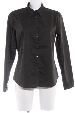 Hallhuber Hemd-Bluse dunkelgrün Business-Look