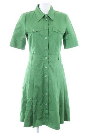 Hallhuber Vestido tipo blusón verde look casual