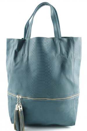 Hallhuber Carry Bag cadet blue-gold-colored Frayed edge