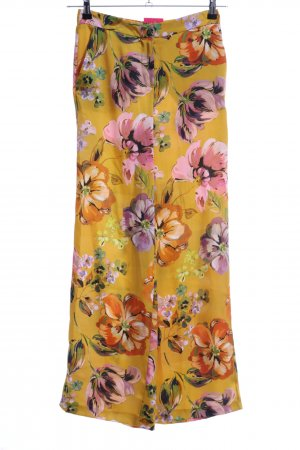 Hallhuber High Waist Trousers allover print casual look