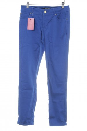 Hallhuber High-Waist Hose blau Casual-Look