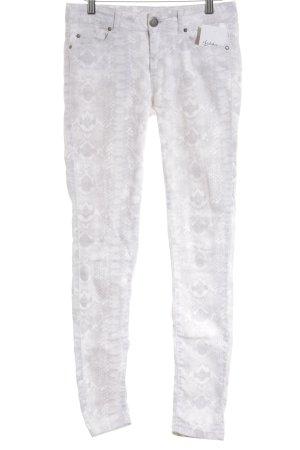 Hallhuber Pantalón de cintura alta beige claro-color plata look casual