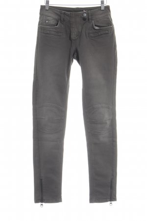 Hallhuber Hoge taille jeans grijs-bruin casual uitstraling