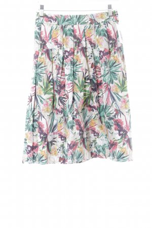 Hallhuber High Waist Rock florales Muster Casual-Look