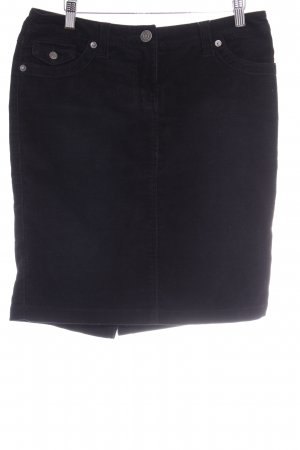 Hallhuber High Waist Rock schwarz Casual-Look