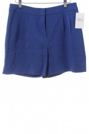 Hallhuber High-Waist-Shorts blau Business-Look