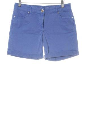 Hallhuber Short taille haute bleu style décontracté