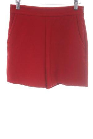Hallhuber High-Waist-Shorts rot Casual-Look