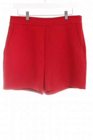 Hallhuber High-Waist-Shorts rot-dunkelrot Business-Look