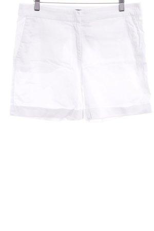 Hallhuber Short taille haute blanc style décontracté