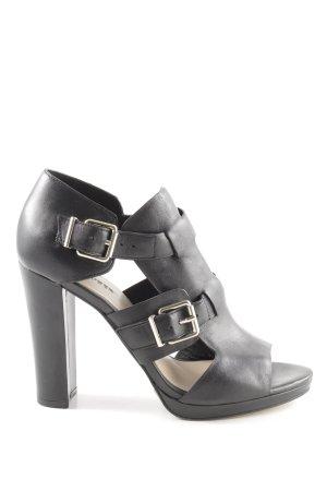 Hallhuber Chaussure à talons carrés noir style extravagant