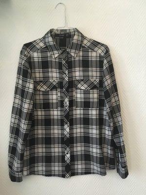 Hallhuber hochwertiges Holzfällerhemd schwarz/weiß kariert
