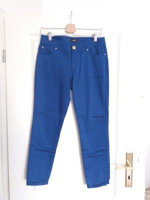 Hallhuber Pantalón pirata azul tejido mezclado