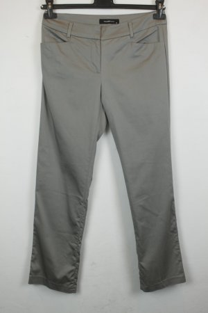 Hallhuber Trousers silver-colored mixture fibre