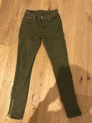 Hallhuber Hose, grün/Khaki, Größe 34