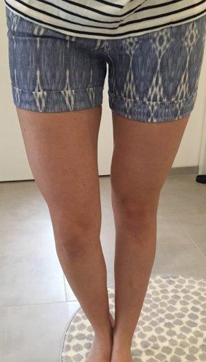 Hallhuber Hose kurz Jeans blau weiß xs 34 32 neu Blogger Sommer Fashion