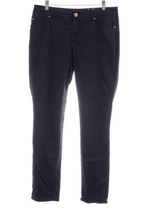 Hallhuber Low-Rise Trousers dark blue-black casual look
