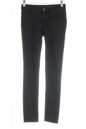 Hallhuber Pantalon taille basse noir style décontracté