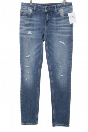 Hallhuber Hüftjeans stahlblau Jeans-Optik