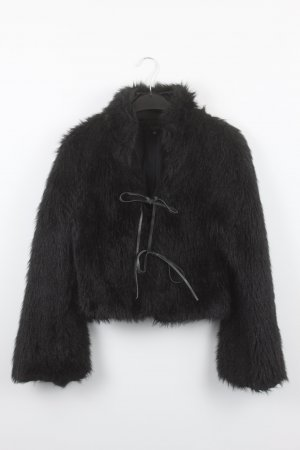 Hallhuber Bontjack zwart Acryl