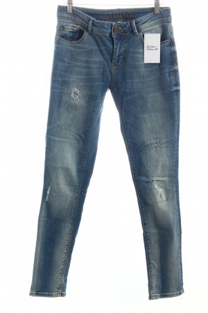 Hallhuber Jeans blau Washed-Optik