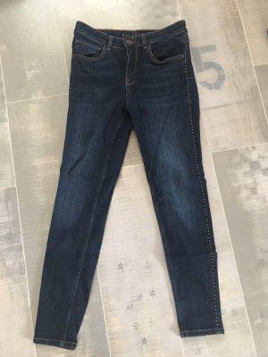Hallhuber Jeans dunkelblau Nieten Gr. 36