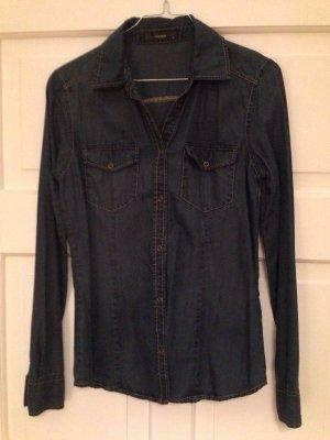 Hallhuber Denim Shirt blue cotton