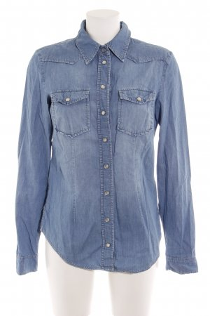 Hallhuber Denim Shirt steel blue casual look