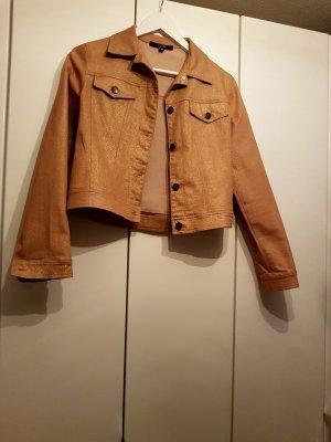 Hallhuber Jeansjacke gold 36 Anzug
