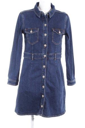 Hallhuber Jeanskleid dunkelblau Jeans-Optik