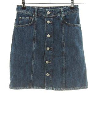 Hallhuber Jupe en jeans bleu style décontracté