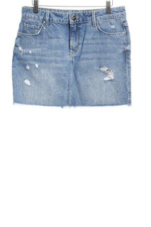 Hallhuber Denim Skirt slate-gray distressed style